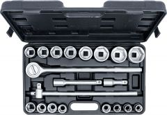 """Coffret de douilles 20 mm (3/4"""") 19 - 50 mm 20 pièces"""