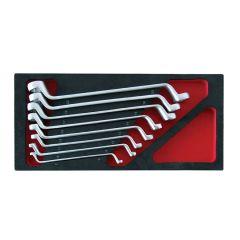 Module 1/3 servante jeu de 8 clés contre-coudée à oeil de 6 à 22 mm