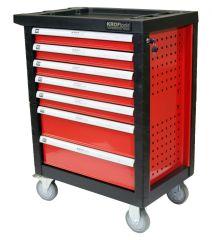 Servante complète 7 tiroirs dont 5 pleins, 159 outils + 100 rivets = 259 pièces