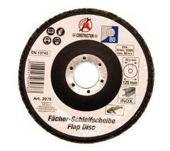Disque meulage à lamelles 125 mm / 22.2 mm / grain 80