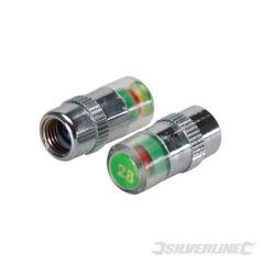 Jeu de 2 valves manométriques pour pneus 1.93 bar