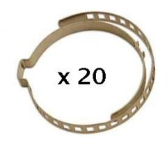 20 colliers de soufflet de cardan 7mm x 245 mm
