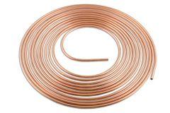 Tube en cuivre doux recuit diamètre 4.75 mm, longueur 7.6 m