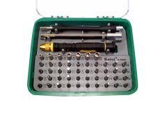 Coffret 51 outils + tournevis pour travail de précision
