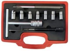 Mallette fraisage des puits d'injecteur de 15 à 21 mm