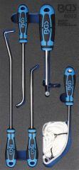 Kit de 5 pièces pour montage de pare-brise à joint + enjoliveur